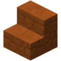 Minecraft red sandstone stairs.png