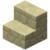 Minecraft sandstone stairs.png