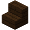 Minecraft dark oak stairs.png