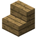 Minecraft oak stairs.png